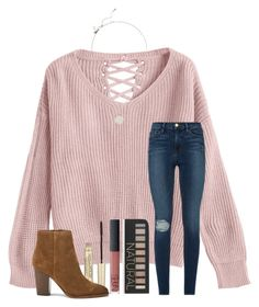 """""""QOTD: what's your crush's name? Mine is holden """" by samanthars ❤ liked on Polyvore featuring Frame, L'Oréal Paris, Sam Edelman, Kate Spade, Forever 21 and NARS Cosmetics"""
