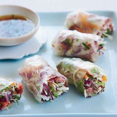 Vietnamese summer rolls are often filled with or shrimp, but Grace Parisi makes hers with roast beef from the deli.