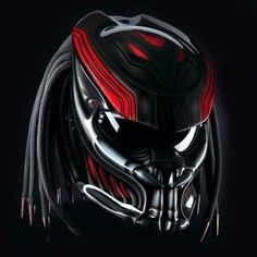 ALIEN PREDATOR HELMET STREET FIGHTER STYLE DOT APPROVED-SIZE S 8c05565c3a646