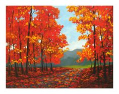 Autumn Path Giclee Print by Patty Baker at Art.com