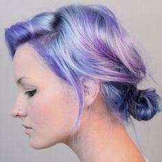 #pastel #lavender #light blue #dyed hair