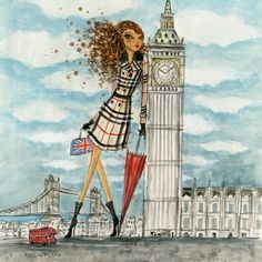 """See The Sights: London"" - canvas print by Bella Pilar"