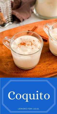 If you love eggnog then you will love this coconut version! Coquito is also known as Puerto Rican Eggnog (but it is made without the egg)! Coconut milk, coconut cream and lots of rum make this drink thick, creamy and delicious!