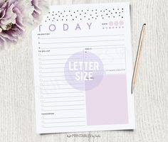 """[ D E S C R I P T I O N ]  PRINTABLE SPOTS DAILY PLANNER •••••NON EDITABLE •••••  [ I N C L U D E S ]  1 PDF FILE LETTER SIZE (8.5 X 11"""") WITH 6 PAGES:  • Grey • Pink • Green • Turquoise • Orange • Violet  [ P R I N T I N G ]  • Color Printer • 8.5 x 11 paper: 24lb white paper, 32lb white paper • Make sure to print at 100% Scale, DO NOT Scale to fit.  [ P L E A S E • N O T E ]  Designed to be printed on 8.5 x 11 (Letter size) standard paper Colors may vary depending on your monitor and…"""
