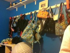 The wall of bags!!!!!!!