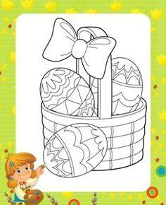 Activitati copii, planse de colorat Oua de Paste Easter craft for kids