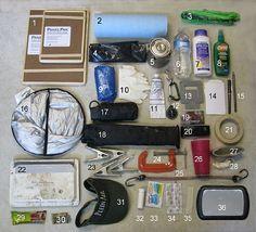 Inside Susan Ploughe's plein air bag. Great list!