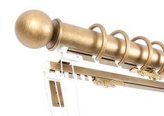 Custom Drapery Hardware by Orion Ornamental Iron Gold Curtains, Custom Curtains, Curtains With Blinds, Curtain Hardware, Window Hardware, Gold Curtain Rods, Window Molding Trim, Blacksmith Shop, Iron Art