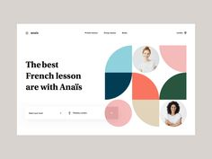 Anais & co - Landing page by Gregoire Vella on Dribbble Tool Design, App Design, Android Design, Vector Logo Design, French Lessons, Landing Page Design, Screen Design, Web Design Inspiration