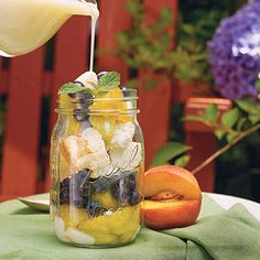 Peach-and-Blueberry Parfait Recipe - 28 Fresh Berry Desserts - Southern Living