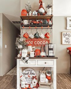 🎅🏼🎄❤️ This year we finally have a { C O C O A Christmas Time Is Here, Christmas Room, Christmas Coffee, Christmas Kitchen, Merry Little Christmas, All Things Christmas, Xmas, Farmhouse Christmas Decor, Rustic Christmas