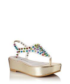 Neptune+rainbow+studded+sandals+by+Jeffrey+Campbell+on+secretsales.com