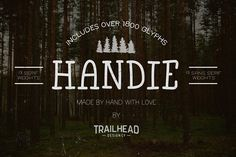 Handie Fonts - Over 1800 Glyphs - Sans Serif
