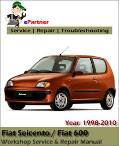 fiat stilo service repair manual download fiat service manual rh pinterest com fiat seicento instruction manual 2002 Fiat Seicento