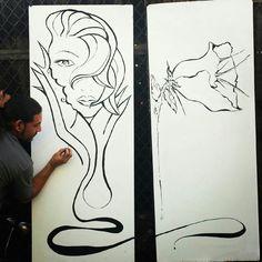 Essence by πones. Acrylic Brush work on wood. #streetart #losangeles #πones