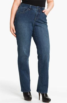 Jag Jeans 'Madison' Straight Leg Jeans (Plus) available at #Nordstrom