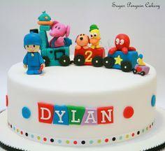 Pocoyo Cake cakepins.com