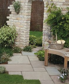 Barley Sandstone Flagstones | Landscaping | Patio | Garden Path | Weathered Style Paving
