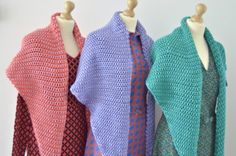 Tunisian Crochet Scarf - Ton Sur Ton - byClaire - crochet patterns, books and yarn Tunisian Crochet Patterns, Face Forward, Color Inspiration, Cover Up, Stitch, Knitting, Stylish, How To Wear, Knit Scarves