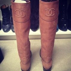 Chanel Boots.  Well, if you insist!