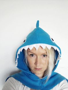 Blue Shark Cape, Halloween Costume or Dress Up Cape for all ages by SevenWhiteRabbits on Etsy
