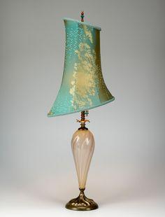 Alexandra: Caryn Kinzig and Susan Kinzig: Mixed-Media Table Lamp - Artful Home