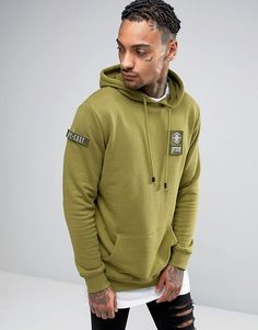 Shop Dxpe Chef Hoodie In Khaki With Military Patches at ASOS. Order now with multiple payment and delivery options, including free and unlimited next day delivery (Ts&Cs apply). Hoodie Jacket, Fashion Online, Asos, Menswear, Military, Mens Fashion, Hoodies, Sweaters, How To Wear