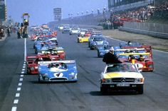 Warm up lap for the 1973 1000 Kms Race - ADAC-1000 km-Rennen auf dem Nürburgring - 1973 World Championship for Makes, round 7 - Deutsche Automobil-Rennsport-Meisterschaft, round 11 - Challenge Mondial, round 3