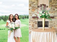 blush and gold wedding flowers inspiration calie rose provo utah riverside country club wedding tall gold vase gold sequin linens www.calierose.com