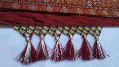 Saree Tassels making using Double Beads I Saree Kuchu Design I saree gon...