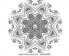 Zentangle pattern on white background by Melissa King, via Shutterstock