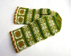 latvian mittens knitted patterned mittens by peonijahandmadeshop
