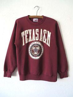 Texas A&M Aggies Sweatshirt NCAA College by BuddyBuddyVintage - Sweatshirt College Shirts, Ncaa College, College Sweatshirts, Texas A&m, Fall Outfits, Cute Outfits, Football Outfits, Outfit Goals, Sweater Weather