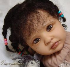 *The Most SOULFULL Eyes*Reborn*TODDLER*Baby*Biracial*AA*Ethnic*Ethnic Human Hair