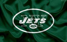 Download wallpapers New York Jets, American football, logo, emblem, National Football League, NFL, New York, USA