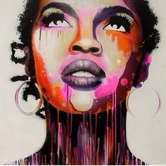 Lauryn Hill - painting (Beautiful voice/beautiful woman) :)
