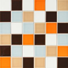 2x2 Stacked- Persimmon, Steel, Coffee, Toffee, Antique White
