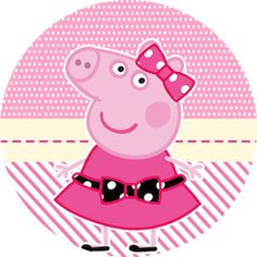 Miss Peppa Pig: Mini Kit para Imprimir Gratis. | Ideas y material gratis para fiestas y celebraciones Oh My Fiesta!