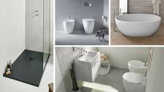 Distanze tra sanitari: ecco gli spazi minimi da rispettare Toilet, Bathtub, Cabinet, Interior Design, Bathroom, Storage, Video, Furniture, Home Decor