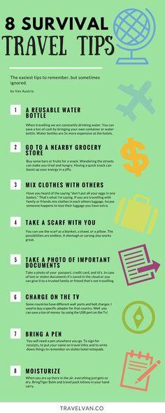 8 ignored survival travel tips travel tips travel forgotten important
