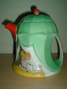 Very Rare Shelley Nursery Ware Teapot Hilda Cowham