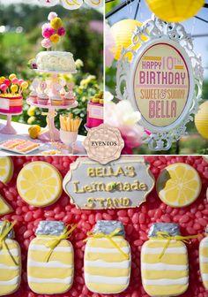 Little girl's lemonade themed party- perfect for summer birthdays