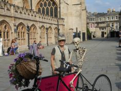 Props for Ghost Tour in Bath by the Cathedral