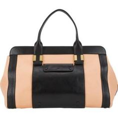 Chloe - Leather Tote Bag Alice Black and Sunrise - $1,039.00 (48% off)