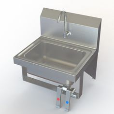 """Aero Manufacturing NSF 17"""" x 15"""" Single Knee Operated Hand Sink with Faucet"""