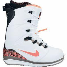 Nike Lunarendor Snowboard Boots White. Hot Lava. Black. Cement Grey