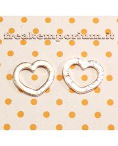 Decorazione floating cuore 23x19mm - 1 pezzo