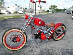 Mini Chopper Motorcycle, Mini Motorbike, Tracker Motorcycle, Bobber Chopper, Cafe Racer Motorcycle, Motorcycle Design, Motorcycle Style, Mini Bike, Bobber Bikes