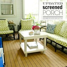 Would love to do something like this with our screened porch instead of just the table we have out there now.