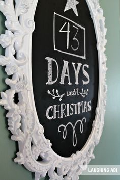 12 Days of Easy Christmas Decorating: Countdown To Christmas Chalkboard. Not just for Christmas but for anything Merry Little Christmas, Noel Christmas, Christmas Countdown, Simple Christmas, Winter Christmas, Christmas Crafts, Christmas Images, Christmas Ideas, Christmas Chalkboard